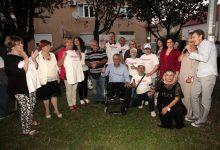 Miodrag Demo družio se s građanima  u zagrebačkom Trnju
