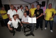 Miodrag Demo na proslavi 50. rođendana HNK Tigar Rakitje