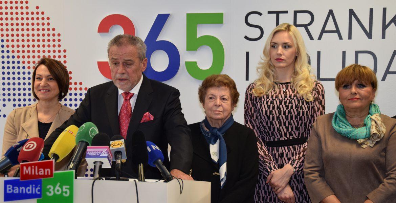 Predsjedništvo 365 – Stranke rada i solidarnosti, na prijedlog predsjednika Stranke Milana Bandića, donijelo je odluku o potpori aktualnoj predsjednici Republike Hrvatske Kolindi Grabar Kitarović na predstojećim predsjedničkim izborima.
