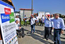 Nositelj liste za II Izbornu jedinicu Stranke Rada i Solidarnosti g.Milan Bandić zajedno sa kandidatima s liste obišao obrtnike i opg-ovce u Dugom Selu