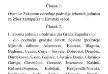 Zakon o izbornim jedinicama za izbor zastupnika u Hrvatski sabor