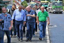 Predsjednik Stranke rada i solidarnosti Milan Bandić u obilasku radova na Čergarovoj ulici, te Soblinečkoj i Brestovečkoj cesti